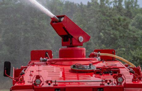 """Auch die modifizierten Löschpanzer vom Typ """"Marder"""" sind mit der Hochdruck-Wirbel-Löschtechnologie von protectismundi ausgestattet. Sie erlauben neben der hocheffizienten Brandbekämpfung in Extremsituationen auch die schnelle und sichere Bergung von Menschen."""